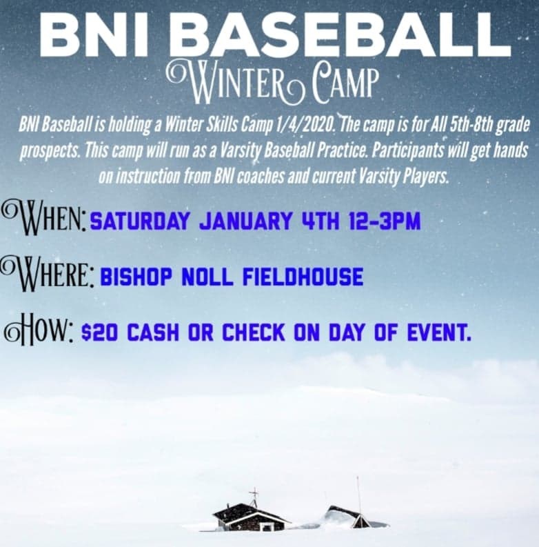 BNI Baseball Winter Camp