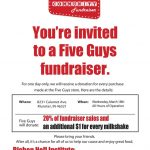 Football Fundraiser @ Five Guys in Munster