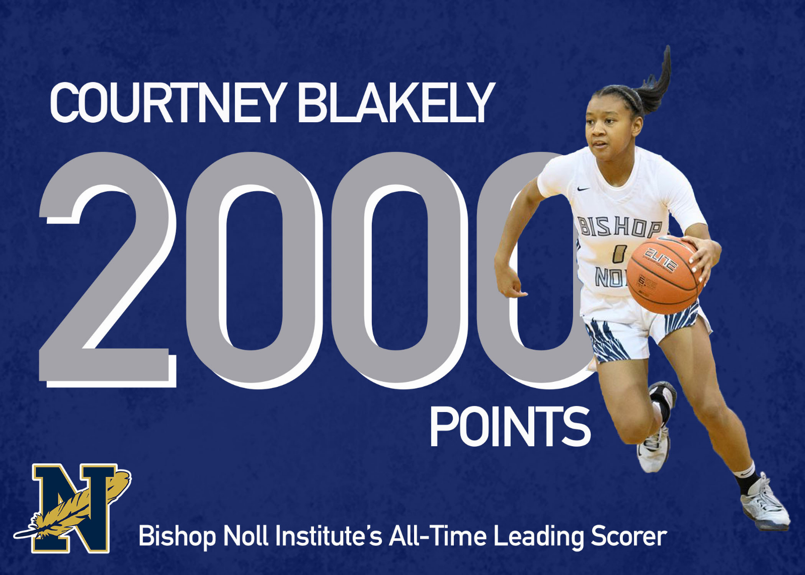 Courtney Blakely reaches 2,000 points!