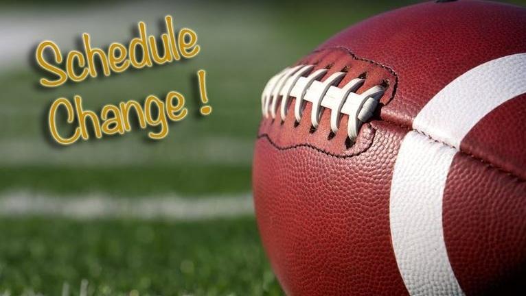 Varsity & 9/10 Football Schedule Change