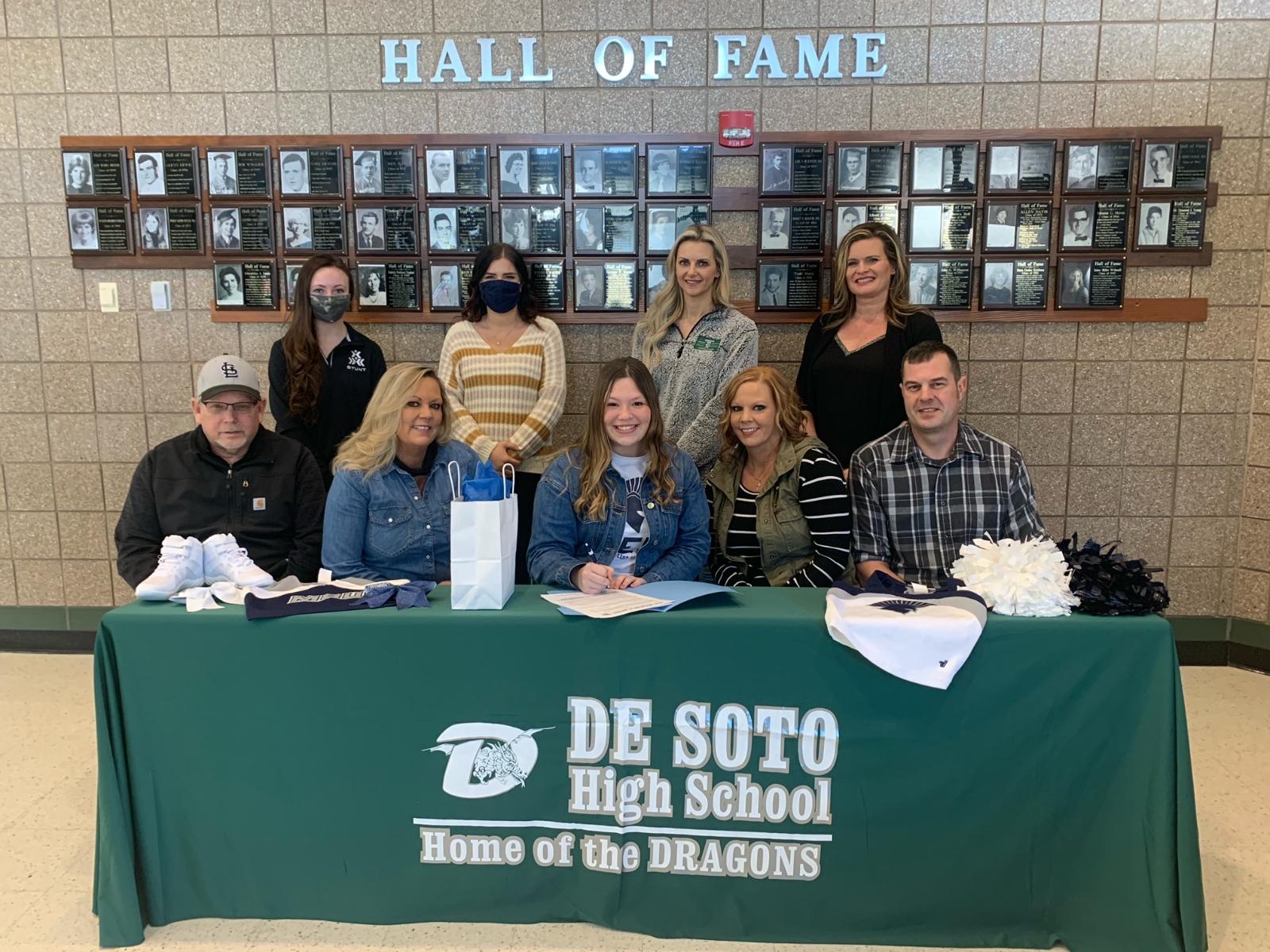 Roth Signs with Missouri Baptist University for Cheerleading Scholarship