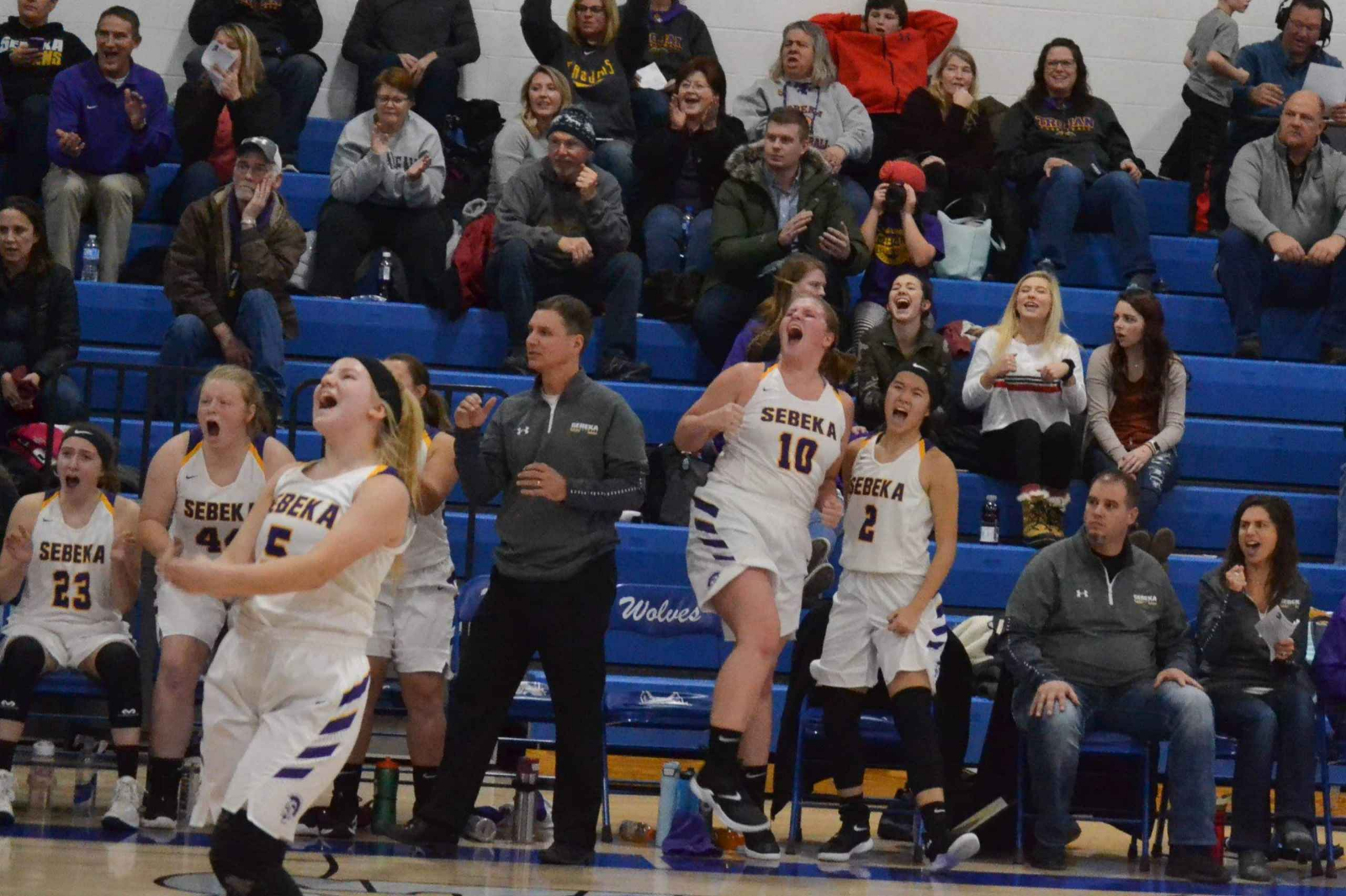 Lady Trojans outlast the Wolves in OT