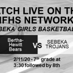 Junior High GBB Webcast Today 3:30
