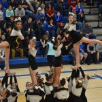 Cheerleaders Collect Toys at Tonight's Game