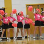 "FHS Cheerleaders Participate in Friday's ""Pink Out"" Game"