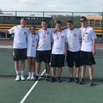 Tennis Team Ties for First at Conference, but Tiebreakers Give Title to St. Pius