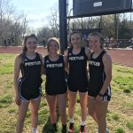 Girls Middle School Track finishes 1st and breaks records at Herculaneum Middle School