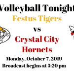 Festus Tigers vs Crystal City Hornets Volleyball – Live