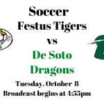 Festus Tigers vs De Soto Dragons Soccer – Live!