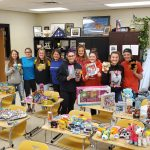 Tiger Softballers Hold Toy Drive