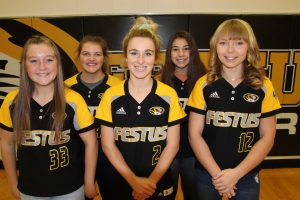 Picture of Makenzie McJunkins, Paige Perry, Blair Baumer, Morgan Green and Abby Rickermann