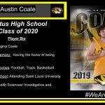 CELEBRATING OUR SENIOR SPRING SPORT ATHLETES  Austin Coale – Boys Track
