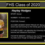 CELEBRATING OUR SENIOR SPRING SPORT ATHLETES:  Hayley Hodges – Soccer