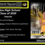 Parents' Names: Kim and Hai Nguyen Career Highlight/Memory: Going to Districts my sophomore year FHS Clubs and Activities: Track, Stuco, Key Club, Renaissance Plans after High School: Continuing Track and Field at Hannibal Lagrange University Intended Major: Nursing