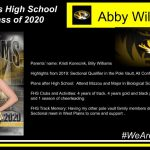 Parents' name: Kristi Konecnik, Billy Williams Highlights from 2019: Sectional Qualifier in the Pole Vault, All Conference Pole Vault Plans after High School: Attend Mizzou and Major in Biological Sciences (Pre-Med) FHS Clubs and Activities: 4 years of track, 4 years gold and black pack, 2 years of dance, and 1 season of cheerleading. FHS Track Memory: Having my other pole vault family members driving 4 hours to the Sectional meet in West Plains to come and support .