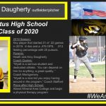 "2019 Season: Key player that started 21 of 22 games in 2019. 6 rbis and a .476 OPS. .913 fielding percentage with 20 putouts. Parents: Heath and Amy Daugherty Coach Quotes: ""Wyatt is a serious student and dedicated athlete. You can depend on him for anything, a great quality. "" Coach Montgomery ""Wyatt is a nice kid you enjoy having around in the program."" Coach Stafford Plans after High School: Attend Mineral Area College and begin a physical therapy program"