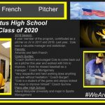 """2019 Season: 4 year member of the program, contributed as a pitcher on JV in 2017 and 2018. Last year, Cole was a valuable manager and statistician. Parents: Amanda and Seth French Coach Quotes: """"Coach Stafford encouraged Cole to come back out as a pitcher this year and worked with him to improve. I think he missed baseball as a manager."""" Coach Montgomery """"Very respectful and hard working does anything you ask without hesitation."""" Coach Burgert """"Cole is a student of the game and always looked for ways to improve himself."""" Coach Gurnow Plans after High School: Attend Maryville University and major in Sports Management"""