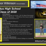 """2019 Season: Started 18 games as a junior, .351 On Base Percentage and 9 rbis offensively. 1.96 ERA on the mound, started in 5 games and struck out 16. Parents: Bryan and Rachel Wilkinson Coach Quotes: """"Connor is a baseball player. It is important to him and he is driven. He will continue to get better."""" Coach Montgomery """"Connor had a productive junior year and was moving into a leadership role with us."""" Coach Stafford """"Wilkinson is a kid who has a great opportunity to continue developing and earn a spot at the next level."""" Coach Gurnow Plans after High School: Verballed to Southwestern Illinois College on a baseball scholarship"""