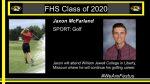 CELEBRATING OUR SENIOR SPRING SPORT ATHLETES:  Jaxon McFarland – Golf