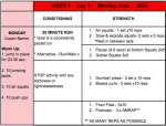 DAY 1 – We Are BIG RED WORKOUTS – JUNE 1, 2020