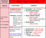 DAY 3 – We Are BIG RED WORKOUTS – JUNE 3, 2020