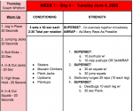 DAY 4 – We Are BIG RED WORKOUTS – JUNE 4, 2020