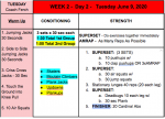 Day 7 – We Are BIG RED Workouts – June 9, 2020