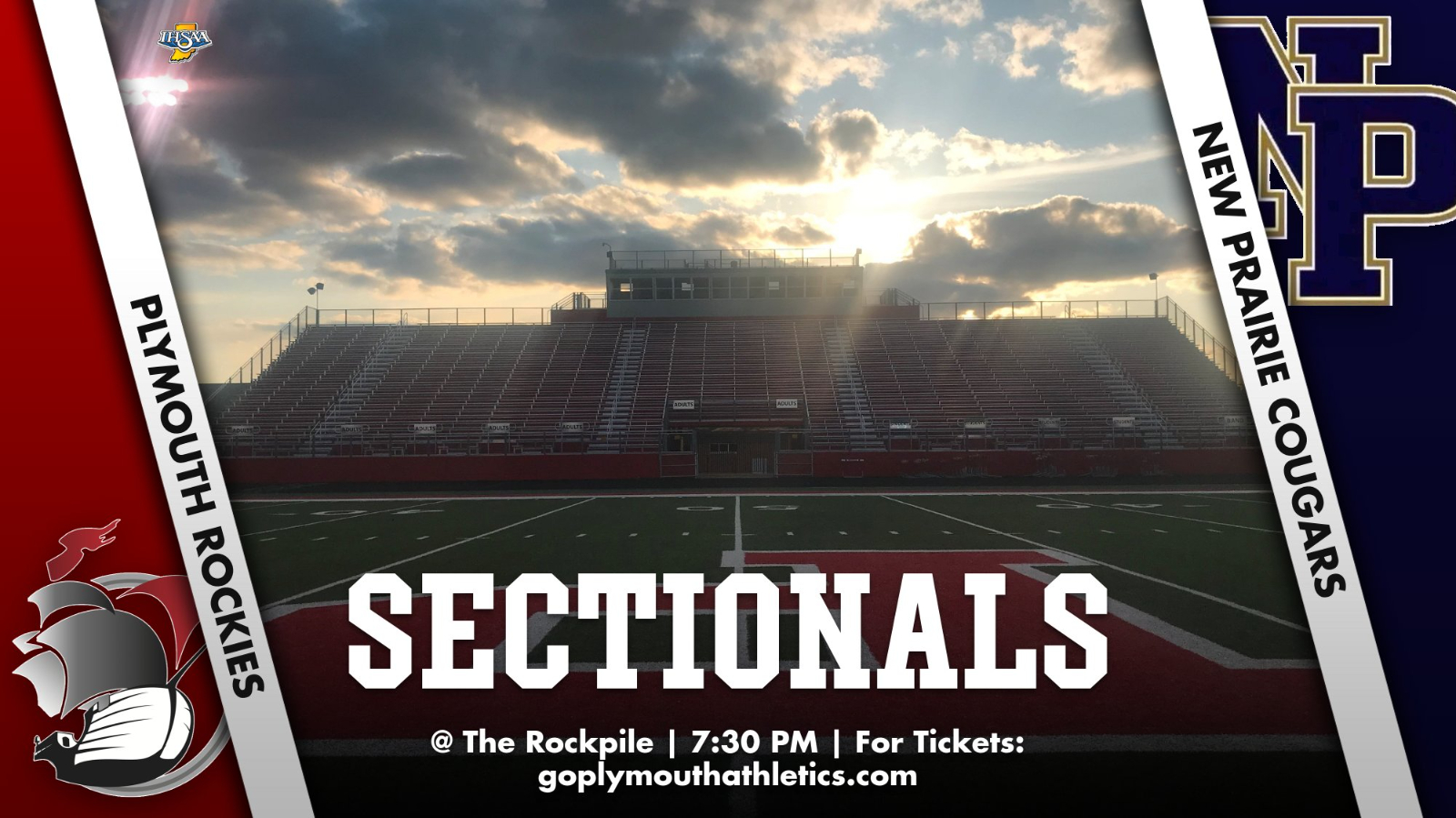 IHSAA Sectional Football Friday  @ The Rockpile (7:30 PM) – TICKETS MUST BE PURCHASED DIGITALLY