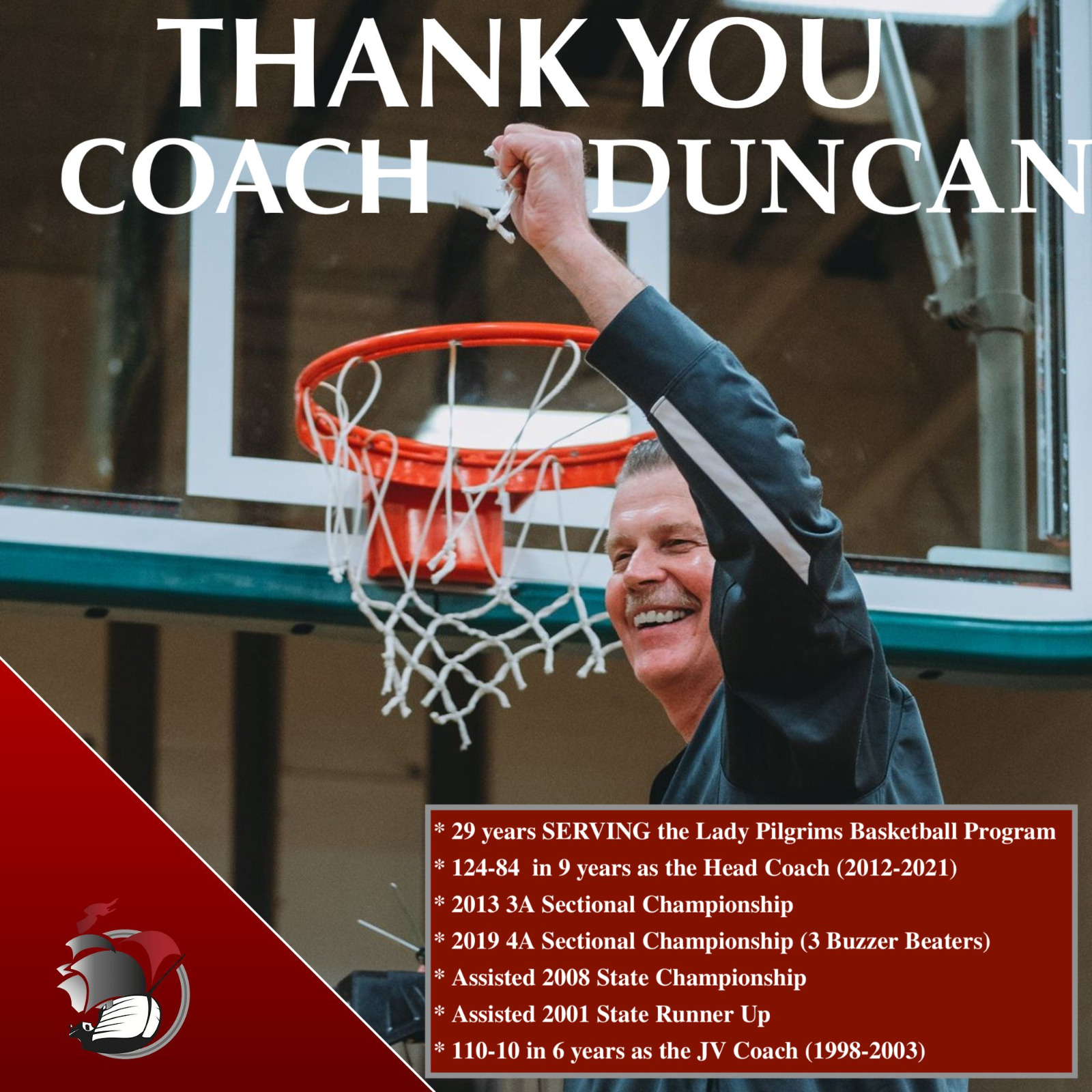THANK YOU COACH DUNCAN – JOB WELL DONE!