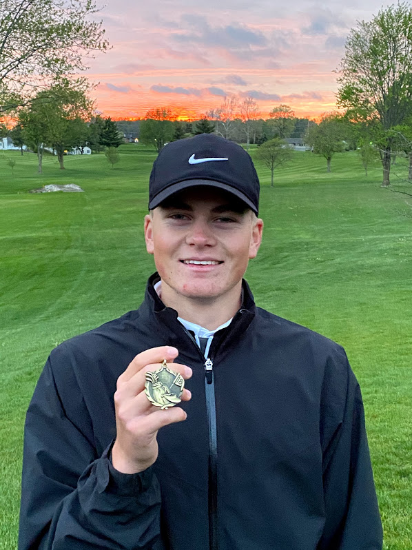 VARSITY GOLF TRAVELS TO ROZELLA FORD. CHRISTY WINS MEDALIST HONORS