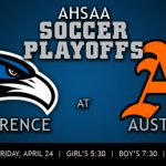 Soccer playoff matches will be Friday, April 24