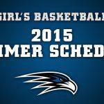Girl's Basketball Summer Calendar
