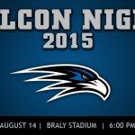 Falcon Night, August 14, 6PM