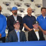 Hanan Mauldin and Collin Taylor signed scholarships this week