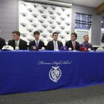 Six Florence Falcons sign to play baseball in college