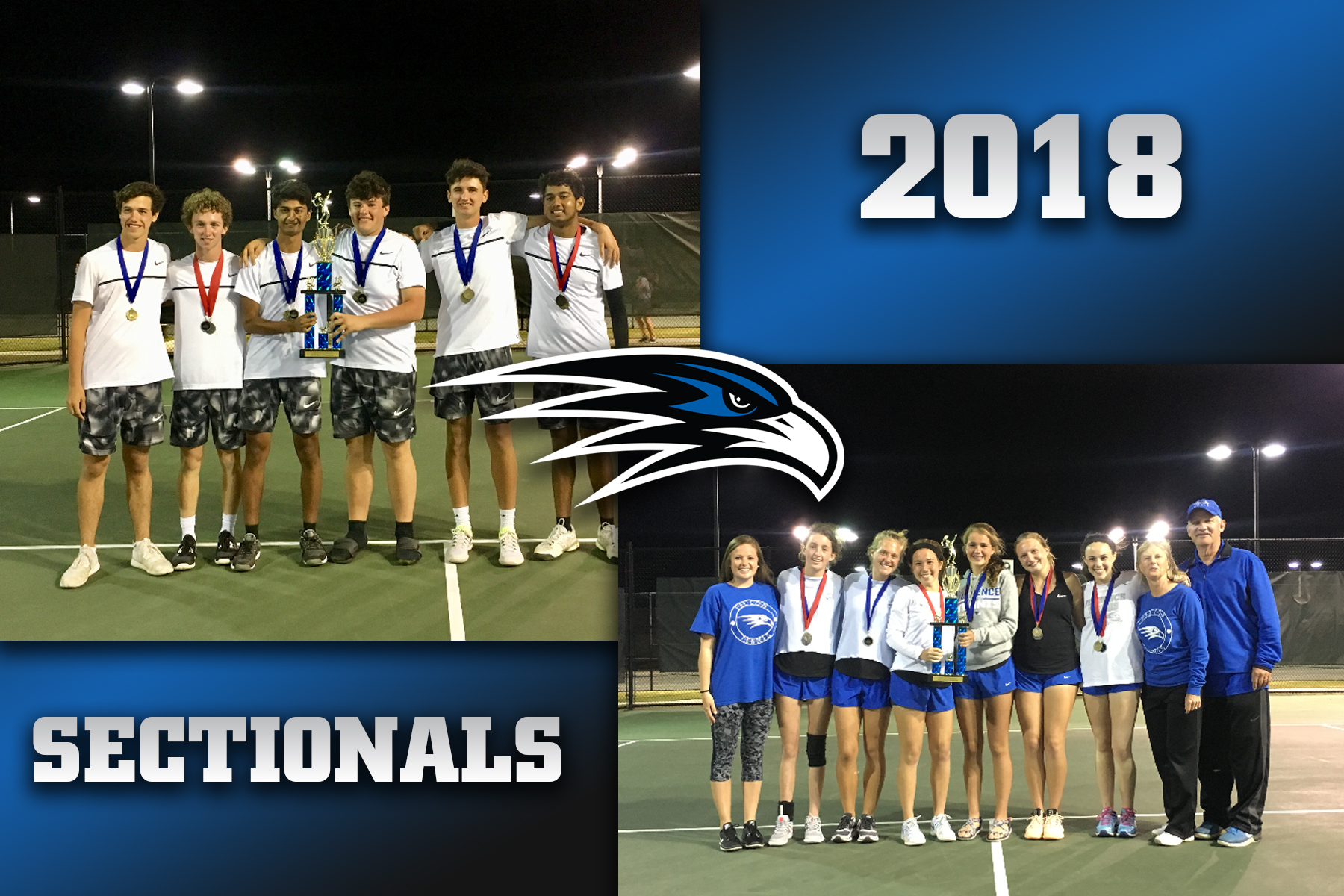 Florence Falcon boys and girls tennis teams win sectionals