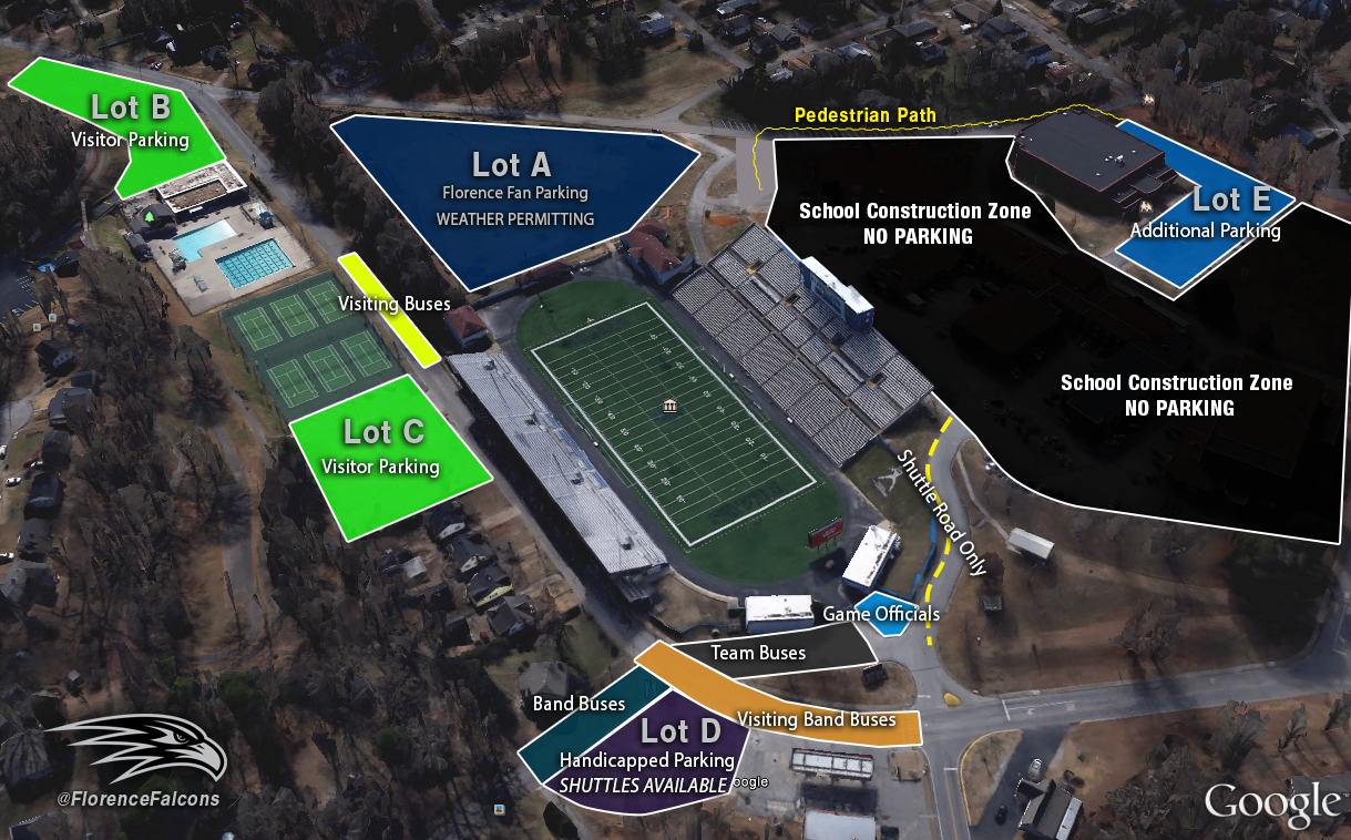Spring Football Game Parking Information