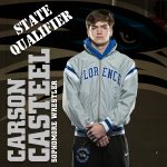 WRESTLING: Carson Casteel qualified for state