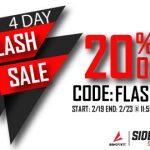 Sideline Store Flash Sale: 20% OFF