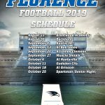 2019 Football Schedule Poster