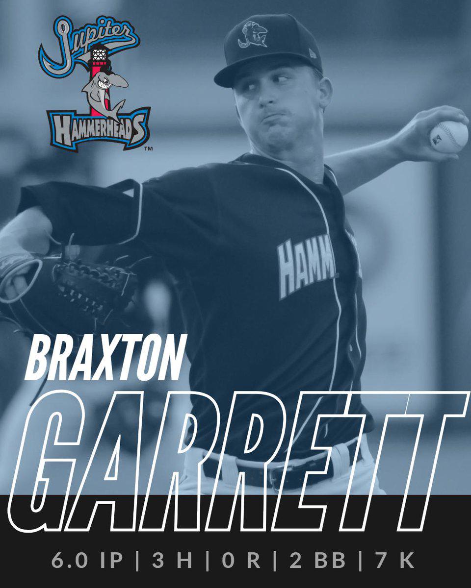 Braxton Garrett pitches 6 innings
