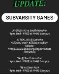 Sub Varsity Ticket Info