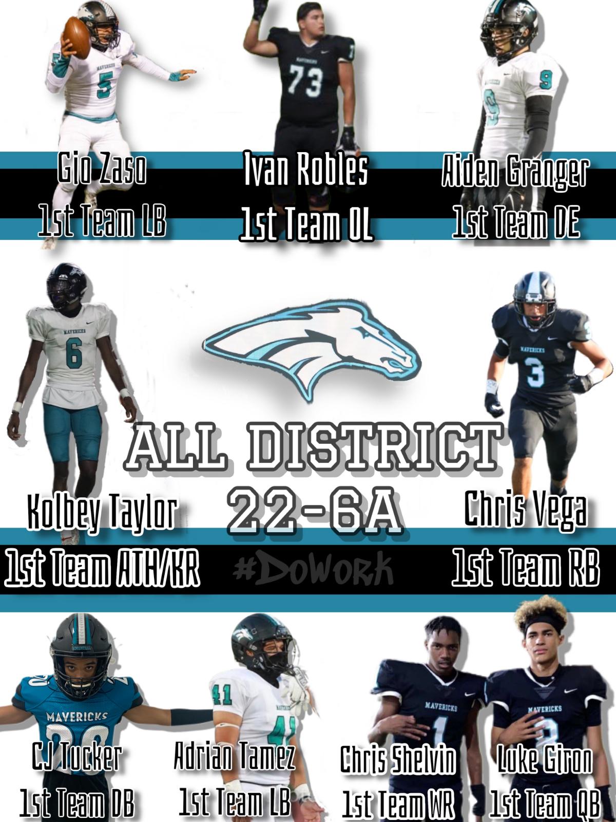 Mav Football 22 6A All District