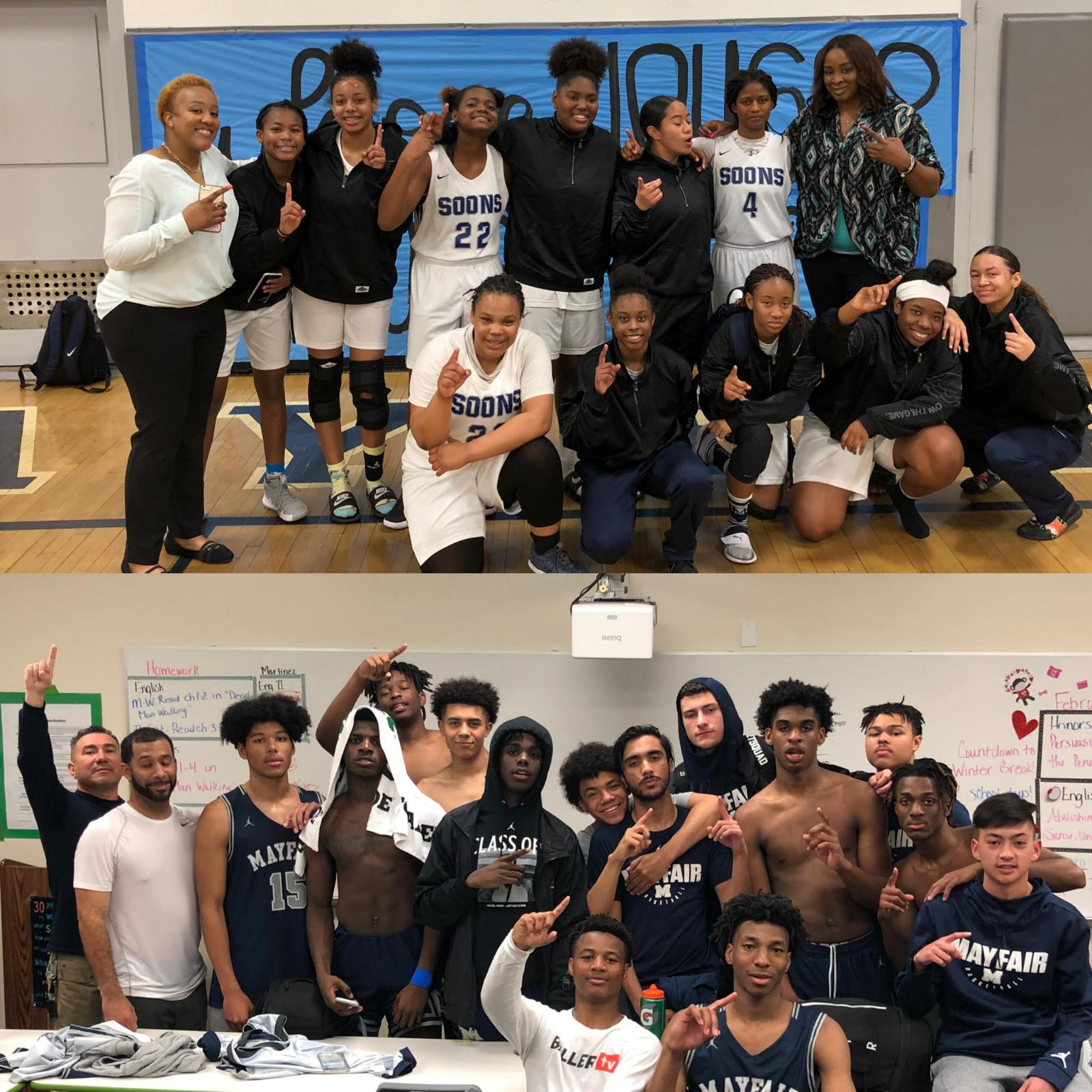 Basketball Boys & Girls in Finals!