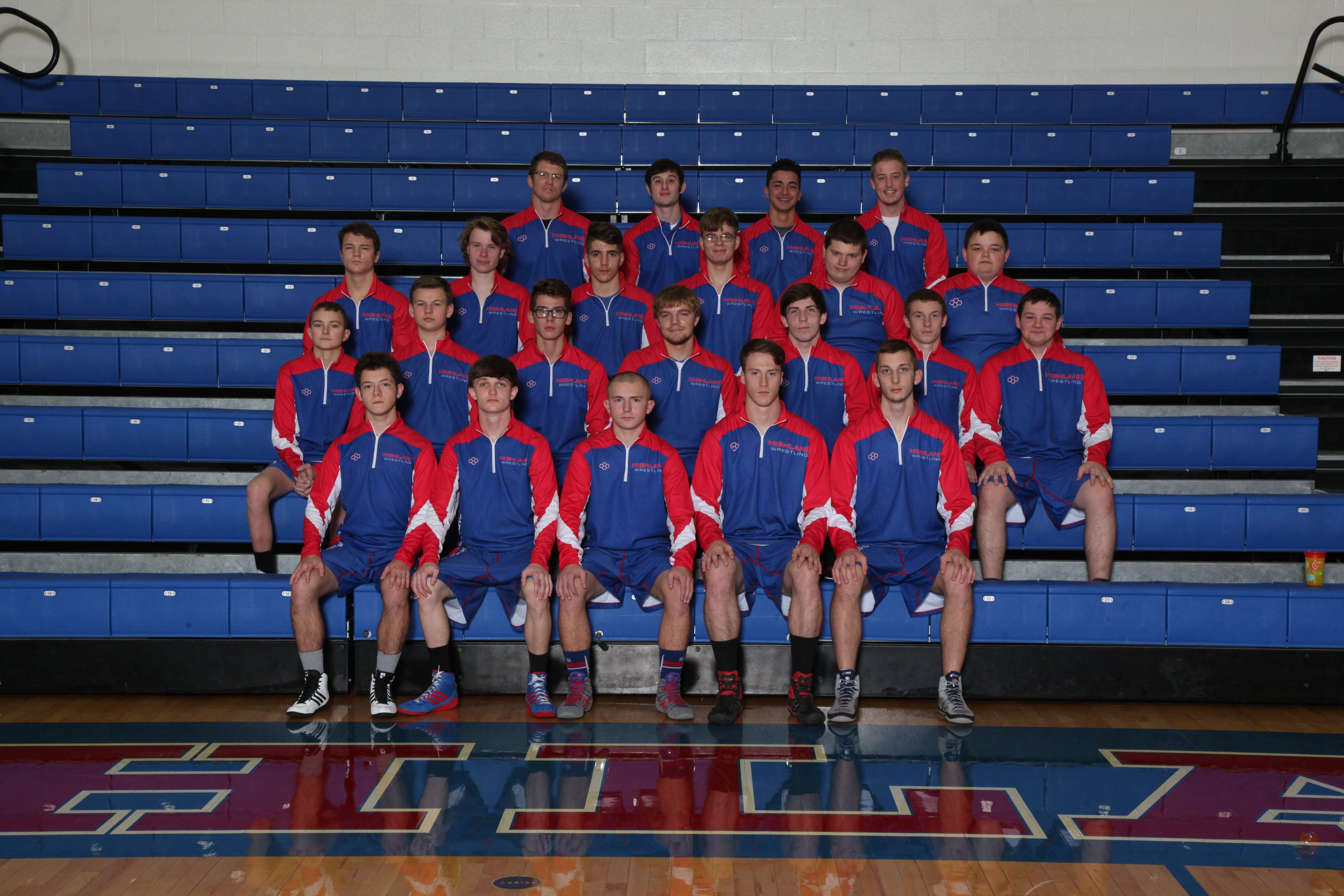 Highland High School Boys Varsity Wrestling finishes 10th place