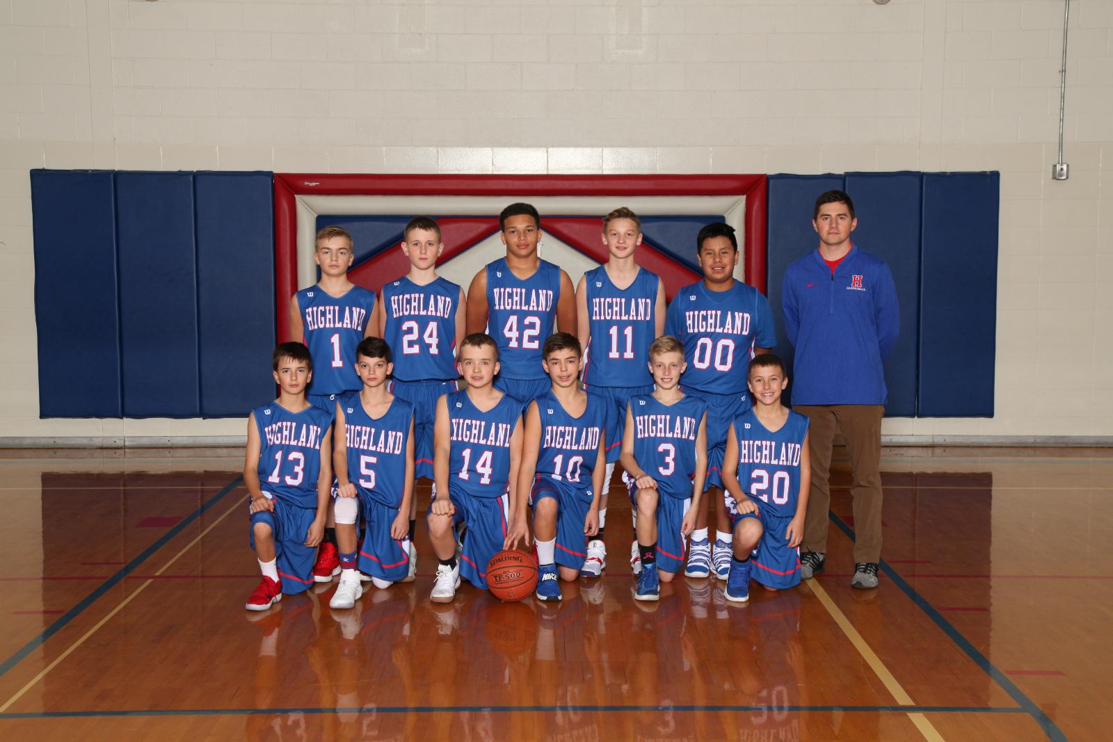 Boys 7th Grade Basketball beats Cardington Middle School 41-20