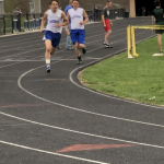 Boys Middle School Track finishes 1st place in Tri meet