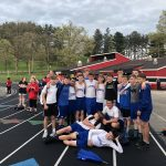 Boys Middle School Track finishes 2nd place at ECOL Championships