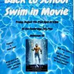 Back to School Swim-In Movie