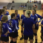 Girls 8th Grade Volleyball beats Dover Middle School 2 – 0